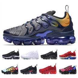the latest d5fc7 e39c9 TN Plus Vapormax Chaussures De Course Pour Hommes Femmes Royal Smokey Mauve  String Colorways Olive Dans Designer Métallique Triple Blanc Noir Formateur  ...