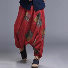 2019 Ethnische Harem Hosen Aladdin Hmong Baggy Hiphop Männer Feminina Pantalon Hosen Breite Beine Hosen Casual Kreuz-hosen Jogger Obebekleidung & Mäntel
