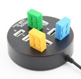 accesorios de aluminio de china Rebajas DHL Envío gratis Alta velocidad USB HUB 2.0 Interruptor divisor de 8 puertos que comparte el interruptor para periféricos de computadoras portátiles Accesorios