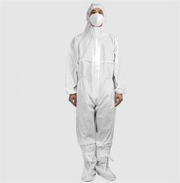 2019 ropa de soldadura Desechable Traje protector anti-virus de la prueba de polvo de la ropa del aislamiento no médico Traje de una pieza desechable de protección transpirable Establece A02