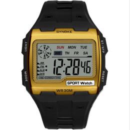quadratischer chronograph Rabatt Herren Digitaluhr Luminous Waterproof Square Großbild-Chronograph Digitale Multifunktions-Outdoor-Sportuhr
