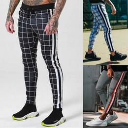 2020 pantaloni lunghi alla caviglia per gli uomini Autunno dei nuovi uomini di scacchi Pantaloni Casual Sport coulisse fondo caviglia Pantaloni Hip Hop Via Pantaloni Uomo pantaloni lunghi alla caviglia per gli uomini economici