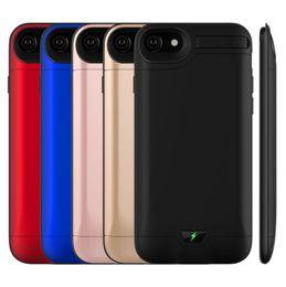 """Крышка беспроводного зарядного устройства онлайн-10000 мАч для iPhone 6/6s/7/8 Plus(5.5"""") внешний аккумулятор Power Case Банк зарядное устройство резервного копирования крышка"""