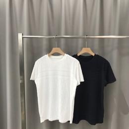 Painel de classificação de cor on-line-2020ss primavera e algodão novo alto grau de verão impressão de manga curta rodada painel pescoço t-shirt Tamanho: m-l-xl-XXL-XXXL Cor: qq19 preto branco