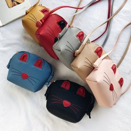 bolso de cuero de conejo bolso de hombro Rebajas 2019 New Kids bag girls cartoon rabbit messenger bag children stereo bunny ear PU leather solo bandolera bebé niños monedero F8057