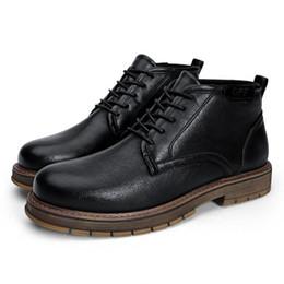 Canada Automne et hiver bottes en cuir pour hommes hautes chaussures rétro Angleterre Martin bottes tendance hommes outillage chaussures mode court cheap england fashion trends Offre