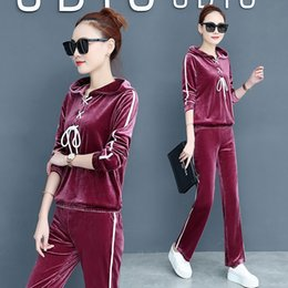 bc4a78fb036 YICIYA velvet 2 piece set tracksuits for women outfits sportswear fitness  co-ord set winter plus size pant suits and top clothes