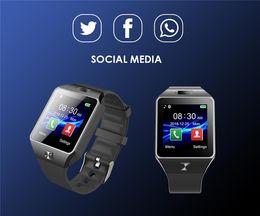 Smartwatch u8 dhl online-Smartwatch DZ09 androides GT08 U8 A1 Samsung-intelligente Uhren SIM Intelligente Handyuhr kann den intelligenten Uhr 10pcs dhl des Schlafzustands notieren