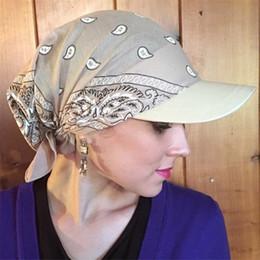 2019 mütze für muslimische frauen Heißer Verkauf Frauen Indien Muslim Retro Floral Farbe Baumwolle Handtuch Kappe Krempe Turban Baseball Hut Wrap einstellbar 2019 # D rabatt mütze für muslimische frauen