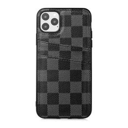 2019 caixa do telefone da orelha do gato do iphone Telefone Luxury Case for iPhone 11 Pro Max 11S com cartão de crédito Bag Couro Designer telefone para iPhone 12 XS XR X 8 7 Plus