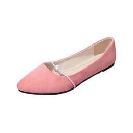 design de moda feminina Desconto Moda designer de luxo das mulheres sapatas de vestido de verão da senhora venda quente rebanho superior sandálias Especial pérola projeto raso sapatos baixos TY-81