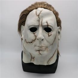 2019 niedliche lippenstift-designs Kostüme Halloween masques d'Halloween Film Halloween-Maske MichaelMyers Cosplay Horror Geist Tricky Charakter Kopfbedeckung Naturlatexmaske