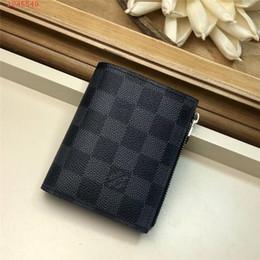 2019 трендовый мужской кошелек 2019 Кошелек Four Seasons для мужчин и женщин, сумка Trend Leather с нерегулярными полосками для карточек Zero Wallet дешево трендовый мужской кошелек