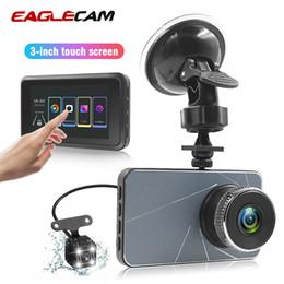 Vista de pantalla azul online-3 pulgadas de pantalla táctil mini cámara del coche DVR 1080P FHD Dash Cam Con Vista posterior DVRS Blue Metal Shell Grabación del ciclo versión de la noche