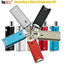 Succhi di vapore online-Yocan Hive 2.0 Hive Vaporizer Kit 2in1 Dab Vape Pen Tensione variabile 650mAh Box Mod Vapor per concentrato CO2 Succo d'olio Cera e sigarette