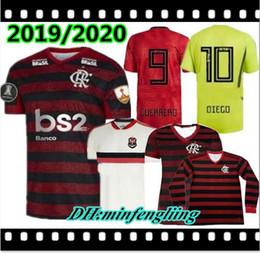 Jersey amarillo rojo online-2019 2020 Traje de entrenamiento Flamengo Red 19 20 Verde flamenco Camisetas de fútbol DIEGO GUERRERO 18/19/20 HOGAR visitante portero amarillo Ventas de aduana