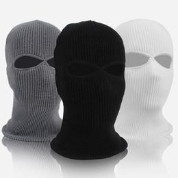2019 женская лыжная маска Winter Motion Ski Hat Мужчины И Женщины Велоспорт Маска Анфас Ветрозащитный Флис Синий Черный MMA2158 скидка женская лыжная маска
