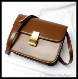 bolsa vintage de carteiro de couro Desconto Clássico Caixa Ladies Bags Tofu Bag Couro Mulheres Vintage Postman Messenger Bag saco de mini pacote partido feminina cruz oblíqua