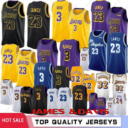 Camisas de basquete on-line-NCAA 23 LeBron James 3 Universidade Anthony Davis Homens Crianças Basketball Jerseys 24 Kobe Bryant 8 32 Johnson Kyle 0 Kuzma 14 Ingram 2019 Novo