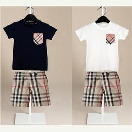 Camiseta de bolsillo para niños online-Genial ropa para niños, juegos, niños y niñas, ocio, traje deportivo, bolsillo, camiseta + PANTALONES CORTOS NIÑOS traje de verano ropa de verano