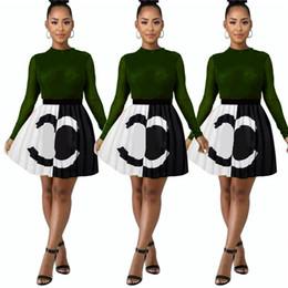 robe soirée courte Promotion Patchwork de luxe Mode Robe Courte 2019 Designer Femme Robes D'été Marque Contraste Couleur Mini Jupe Plissée Club Robes De Soirée C7207