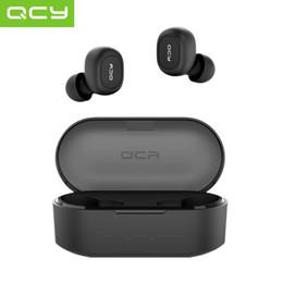 Fones de ouvido qcy on-line-2019 QCY T2C Mini Fones De Ouvido Bluetooth com Microfone Sem Fio Fones De Ouvido Esportes Fones De Ouvido Com Cancelamento de Ruído fone de Ouvido e caixa de carregamento