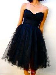 Thé longueur robes de bal vintage tulle en Ligne-Nouveau moins de 100 avec lacets Vintage Real Image Dark Navy Tea Longueur robes de demoiselle d'honneur en tulle demoiselle d'honneur