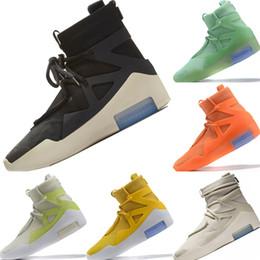nuevo diseño de zapatos de futbol Rebajas Zapatos 2019 Rey Miedo a Dios 1 Niebla Botas de baloncesto Miedo a Dios 1 Buffer de goma Construido en Zoom Zapatos deportivos de amortiguación de aire