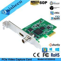 Видеокамера 3g онлайн-PCIe HD Video Capture Card Box 1080P60 HD/3G SDI HDMI Windows10 Linux OBS Vmix wirecast потоковая передача игр,перекодировщик