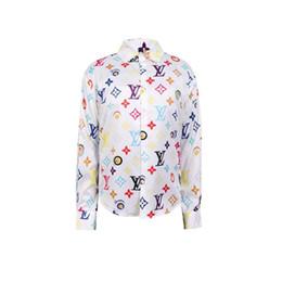 abbigliamento batik Sconti 2019ss Designer Slim Fit Camicie Medusa Men ss = 2019 3D oro stampa floreale Mens Camicie a maniche lunghe Business Casual Camicie Maschi Vestiti