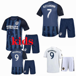 2021 short maillot  2019 2020 LA Galaxy Kids Soccer Jerseys sets Survêtements 19 20 IBRAHIMOVIC domicile maillot de foot + shorts