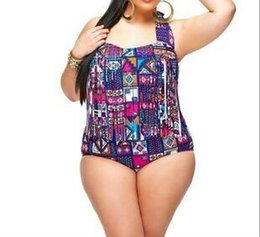 9aaba6077ba 2019 Plus Size Bikini Set Women Ladies Sexy Retro Padded Push Up Tassel  High Waist Floral Swimwear Swimsuit Bathing XXXL