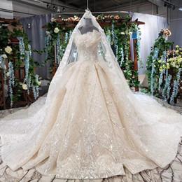 Böhmischer schleier online-2019 Bohemian New Brautkleider Sleeveless Shell Chest Liebsten Backless Lace Up Zurück Lace Long Veil Ruffle Crystal Brautkleider Garden