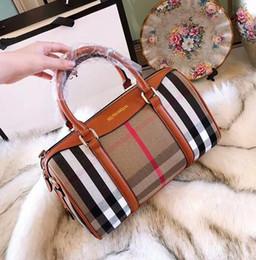 ee33a50cad 2018 New Canvas European And American Explosion Models Grid Pattern Handbags  Designers Female Shoulder Bag