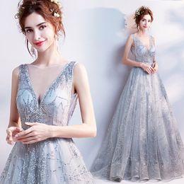 Yeni açık gri uzun sequines lady kız kadınlar prenses nedime ziyafet parti elbise nereden resmi elbise korece kızlar tedarikçiler