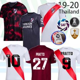 Prato do rio on-line-Tailândia River Plate 2019 2020 QUINTERO Soccer Jersey Riverbed River Plate Início da camisa do futebol 2020 Vendas uniformes personalizados Futebol