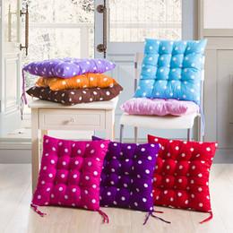 40x40cm Cuscini per sedili Cuscino spesso Cuscino quadrato morbido per sedia da pranzo Tavolo da giardino Patio Oggettistica per la casa Dot Tappetino per studenti Cuscino per quattro stagioni da