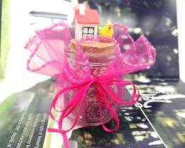 Bolsas de regalo de organza redondas online-100 unids 26 cm Dimeter Organza Rose Red Cordón Redondo Evento Fiesta de la Boda Festival Favor Embalaje Pounches Joyería Regalo Tulle Bolsas de hilo