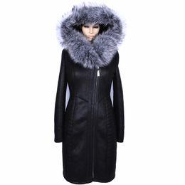 Approvisionnement direct d'usine hiver long manteau de fausse fourrure femmes grande taille mode artificielle argent collier de fourrure de renard épais en peluche sexy mince ? partir de fabricateur