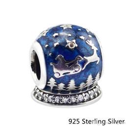 Authentique Bijoux En Argent Sterling 925 Nuit De Noël Bleu Original Charms Perles Convient Bracelets Pandora Pour Femmes ? partir de fabricateur