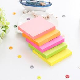 2019 calendario del libro de recuerdos 100 piezas por bolsa de moda Stickers Note, cinco colores mezclan bolsas de colores, notas de uso de la oficina y la escuela
