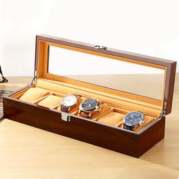 orologi per il caso di parti Sconti Orologio personalizzato parti di lusso in legno acrilico orologio cassa avvolgitore 6