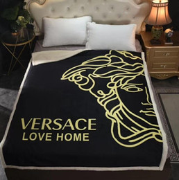 cobertor de swaddle simples Desconto espessamento cobertor confortável quente AB dupla face macia cashmere cobertor espessamento cristal camurça moda ar condicionado sofá cobertor