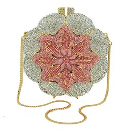 100% fait main sacs de soirée en cristal en forme de cercle avec chaîne, sac à main pour femme, sac à main, parti, diamant, embrayage ? partir de fabricateur