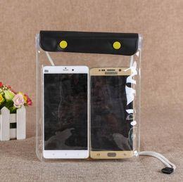 Argentina Para 6plus 6/7/8 pulgadas Teléfono PVC Tela impermeable Impermeable transparente Bolsa Adecuado para el buceo en balsa Suministro