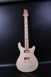 2019 gitarren körper unvollendet Set unfinished Mahagoni-Gitarrenkörper + Gitarrenhals 22Fret Fit Diy E-Gitarre günstig gitarren körper unvollendet