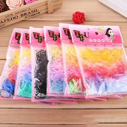 2019 süßigkeiten mädchen koreanischen zubehör 220 Teile / los Korean Candy Farbe Headwear Haar Ring Seile Pferdeschwanz Halter Einweg Elastische Haarbänder für Mädchen Zubehör günstig süßigkeiten mädchen koreanischen zubehör