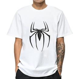Camisa de poliéster hombre araña online-Patrón MOUNTSHARP araña camiseta de los hombres remata las tes de impresión de algodón y poliéster Harajuku camisetas de hombres Ropa de novio regalo