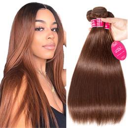 Brezilyalı Sınıf 8A Vizon insan Virgin saç Vücut Dalga demetleri İşlenmemiş Ürünler Hint Düz açık kahverengi Uzantıları atkı gaga cheap human hair wefts brown nereden insan saçı atkı kahverengi tedarikçiler