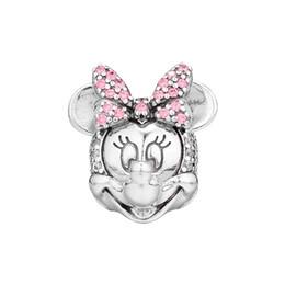 Neue Original 925 Sterling Silber Cartoon Schimmernde Porträt Clip Charms Perlen Passt Ursprüngliche Pandora Armbänder Halskette Schmuckherstellung von Fabrikanten